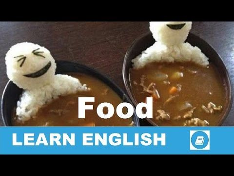 Learn English Vocabulary - Food 2 - Talking Flashcards - E ANGOL