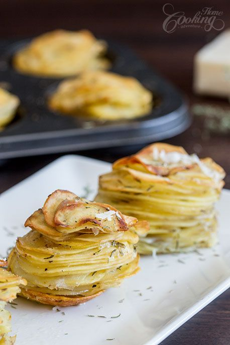 Parmesan potato stacks are a great side dish or appetizer that your family and guests will definitely enjoy.