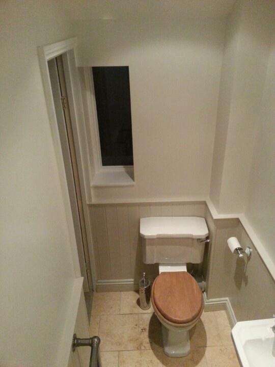 En Suite Shower Room Finished In Little Greene Slaked