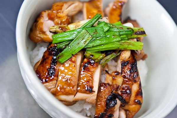 Chicken Teriyaki Recipe   So what makes for an authentic teriyaki sauce?  It's simple… equal parts soy sauce, mirin, sake, and sugar.   From: norecipes.com