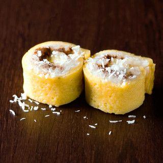 Makis sucrés banane, coco et Nutella