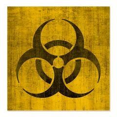 Vintage Biohazard Shower Curtain > Vintage Biohazard