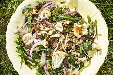 Cauliflower and lentil salad