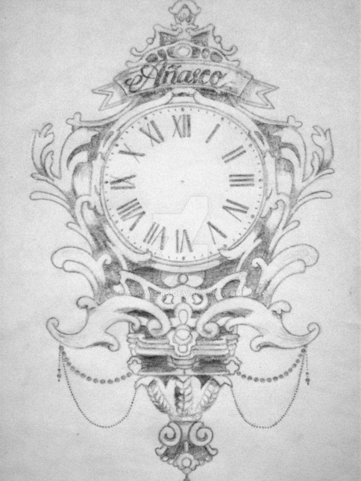 clock tattoo for my bestfriend by aubzwork tattoos pinterest tatuajes de relojes reloj y arte. Black Bedroom Furniture Sets. Home Design Ideas