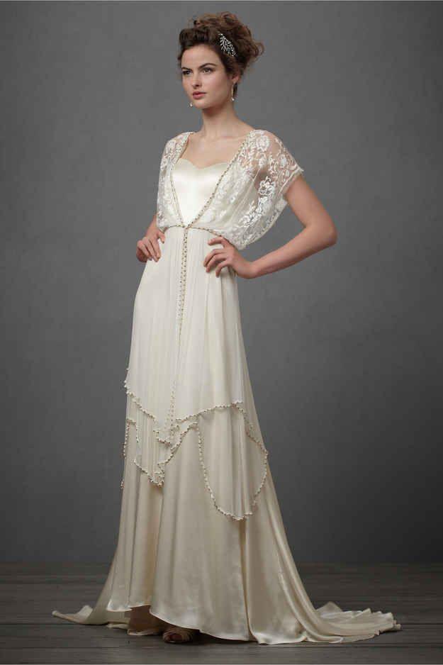 defa6933e30 Short Art Deco Wedding Dress. 25 dazzling art deco wedding gowns buzzfeed  mobile