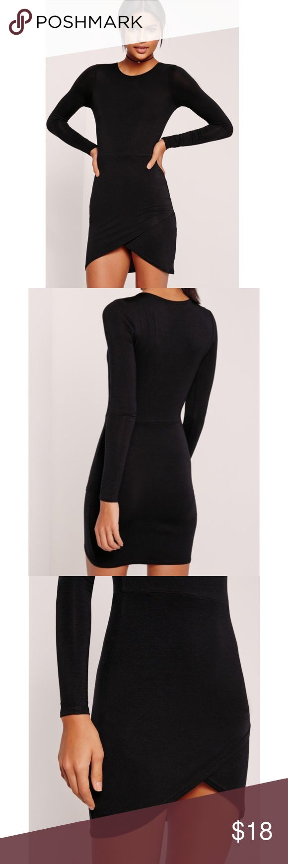 "Missguided dress simple and chic, this is maximum style with minimal effort.   stretch fit   mixed fibres   approx length 81cm/32"" (based on a uk size 8 sample) Missguided Dresses Asymmetrical"