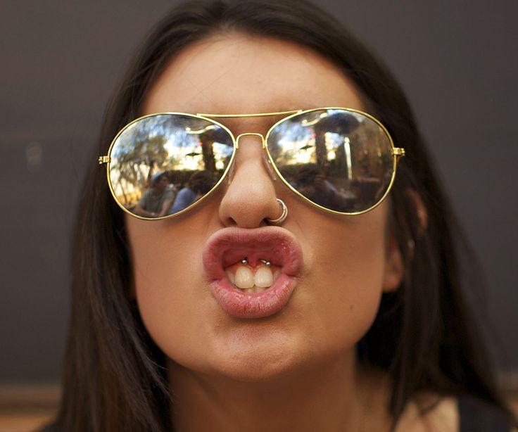 Piercing Smiley (frenillo de labio superior) Piercing Aleta nasal