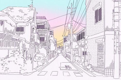 background practice: japanese scenery