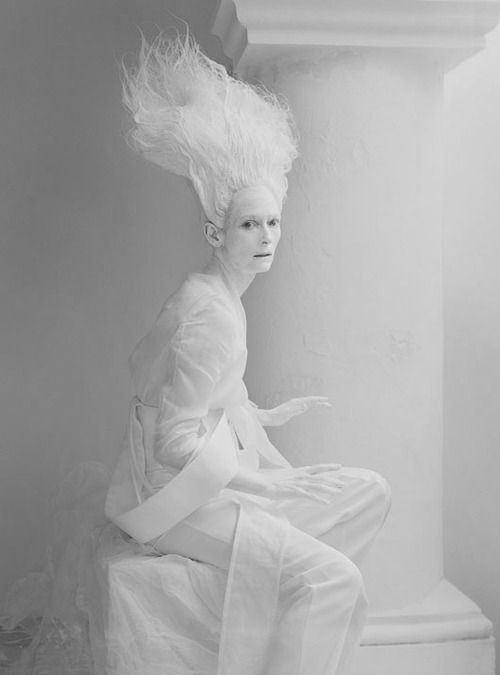 """Tilda Swinton in """"Stranger Than Paradise"""" for W May 2013. Photo by Tim Walker. Original in colour. S)"""