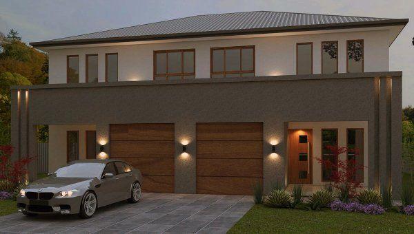 Two Storey Duplex Plans Duplex House Design Townhouse Designs Duplex Design