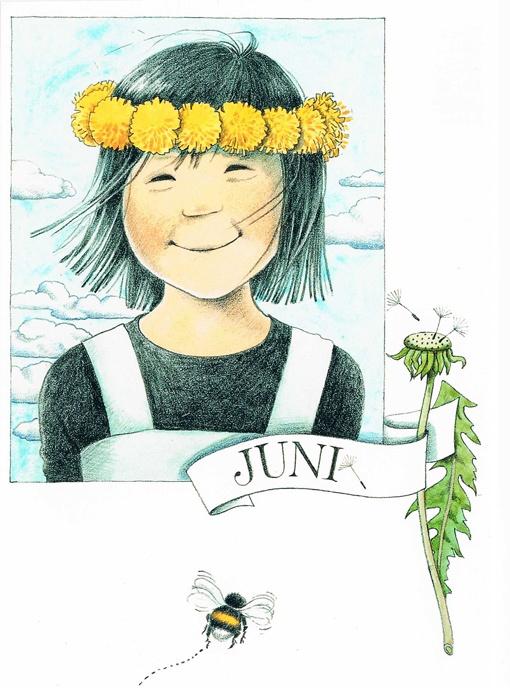 Juin par Lena Anderson (1939) illustratrice suédoise. Son site : http://www.linneaimalarenstradgard.se/