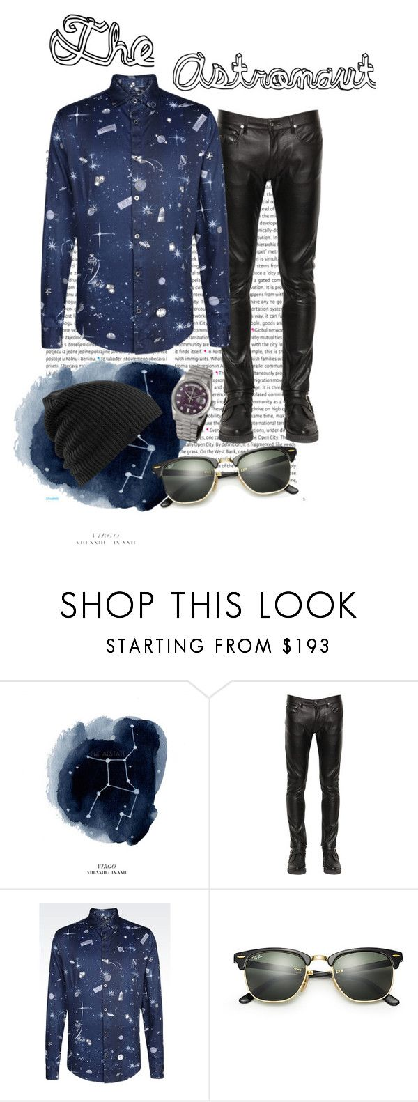 """""""The Astronaut"""" by linda-adeson ❤ liked on Polyvore featuring Oris, April 77, Armani Jeans, Ray-Ban, Burton, Rolex, men's fashion and menswear"""
