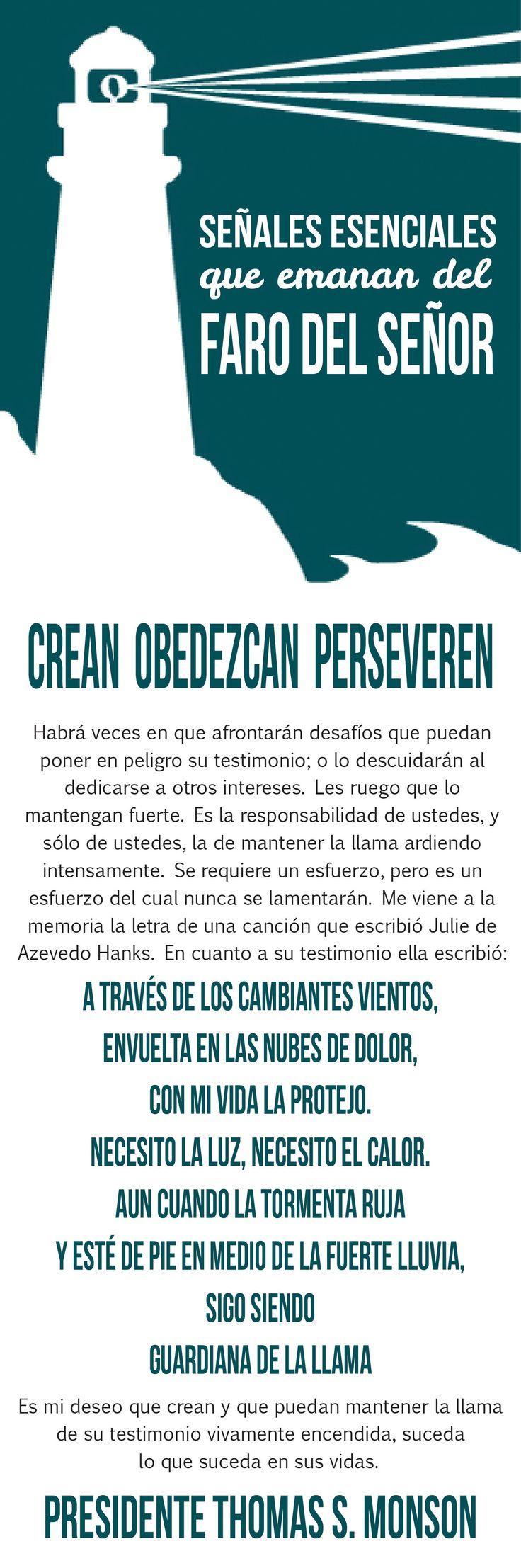 Señales esenciales que emanan del faro del Señor -  Ven Sigueme Mayo 2014 - Conexion SUD