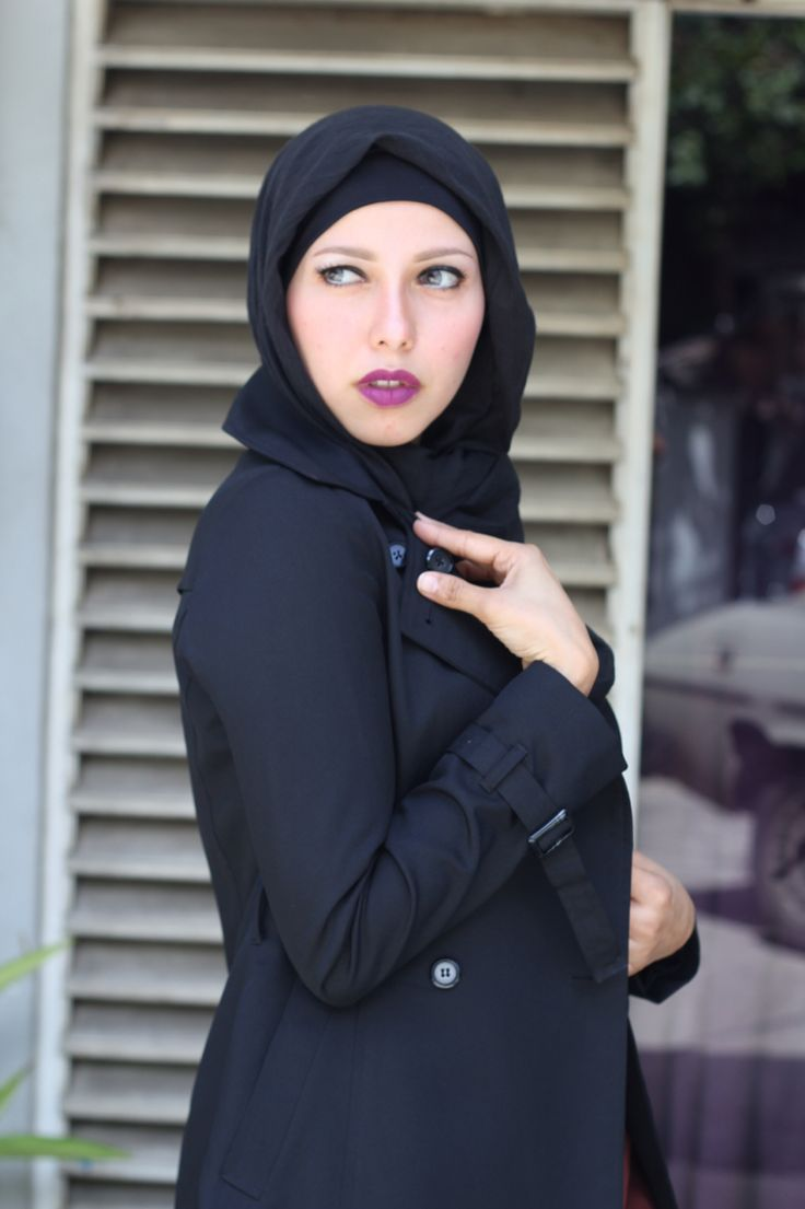 Simple hijab #black