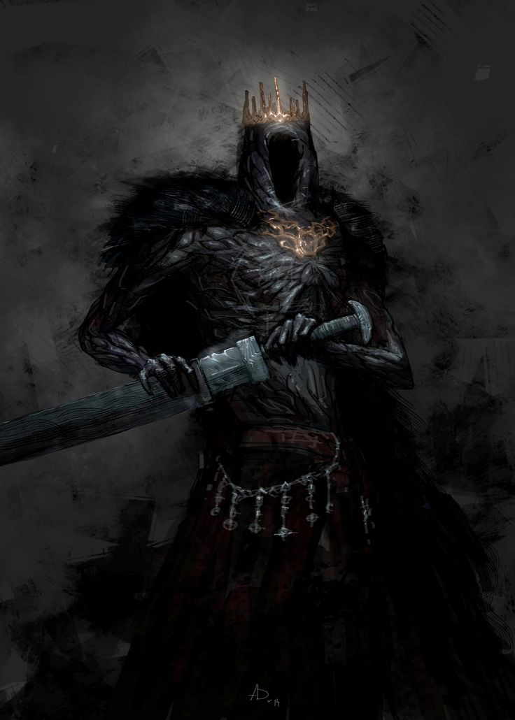 """One of the Umbral Arcanist's first tasks was to create a leadership, and for this he coerced powerful individuals to take their """"Black Pledge"""", this was once a great king of a now lost civilization, he is only known now in records as """"He Who has Seen the Veil"""""""