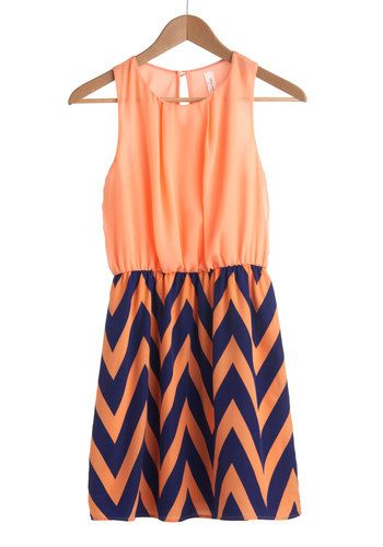 ModCloth - zig zag chevron dress