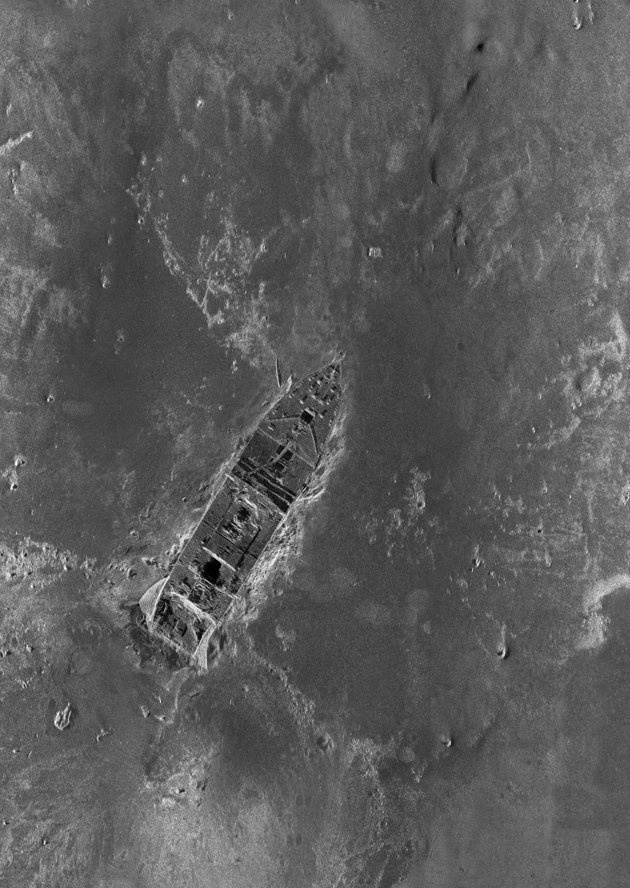 March 2012: an image of the Titanic wreck is captured for the first time on the ocean floor of the North Atlantic using sonar imaging.