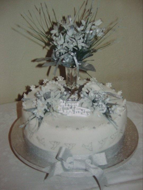 Silve Wedding Anniversary Cake