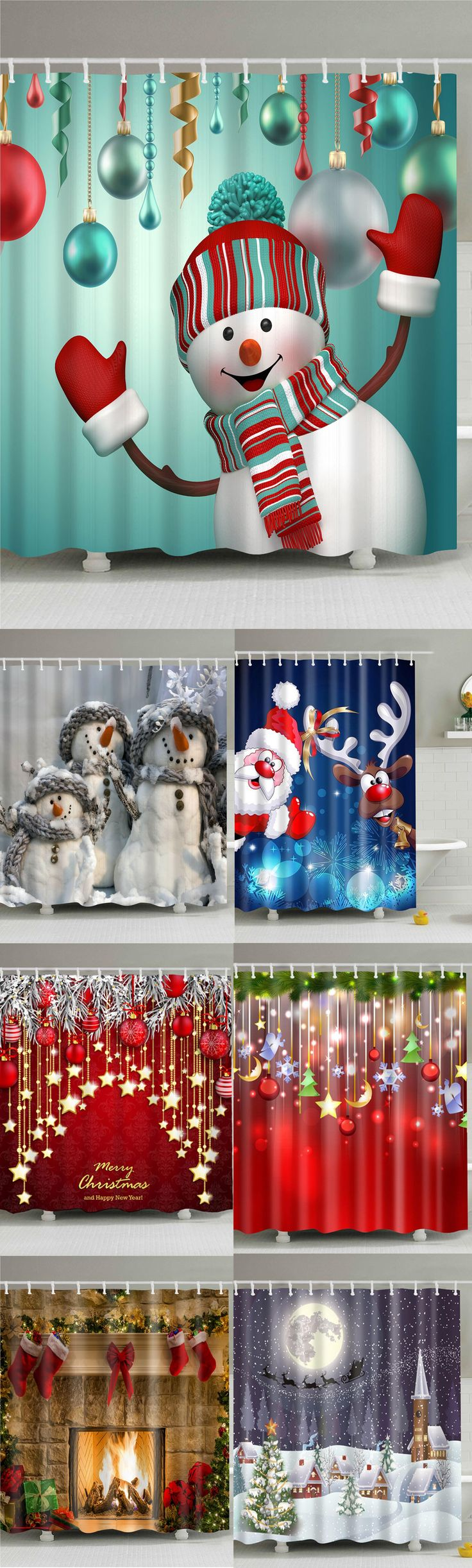 Up to 80% off and Extra $15 OFF, Rosewholesale christmas decoration shower curtains | Rosewholesale,rosewholesale.com,rosewholesale home decor,home decoration,Christmas decor,Christmas decor diy,Christmas decoration,shower curtain,Christmas crafts,bath kitchen, christmas | #Rosewholesale #showercurtain #christmas #ChristmasDecor