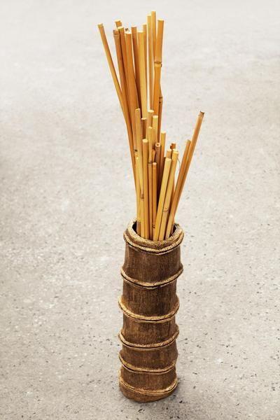GarZenKunst: Bambus - Vase, Unikat, Steinzeug... von zeit-geister auf DaWanda.com