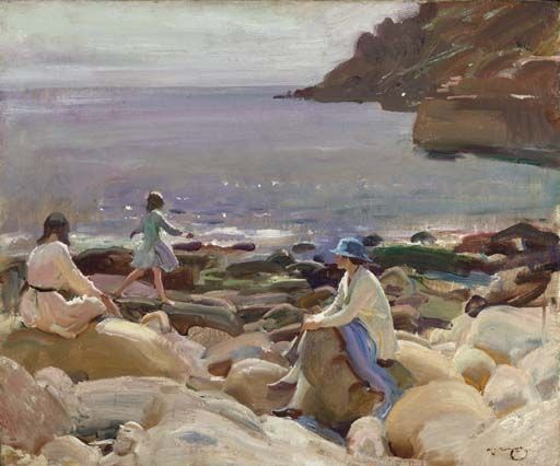 "huariqueje: ""Lamorna Cove, Cornwall - Sir Alfred J.Munnings c1912. British 1878-1959 Oil on canvas """