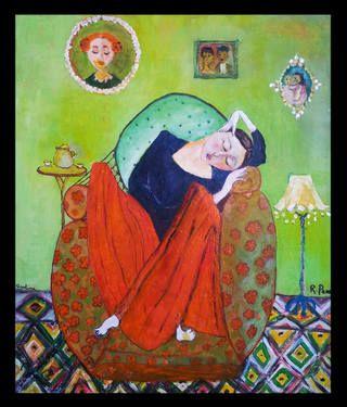 "Saatchi Art Artist Rudina Pema; Painting, ""SLEEPING GIRL"" #art"