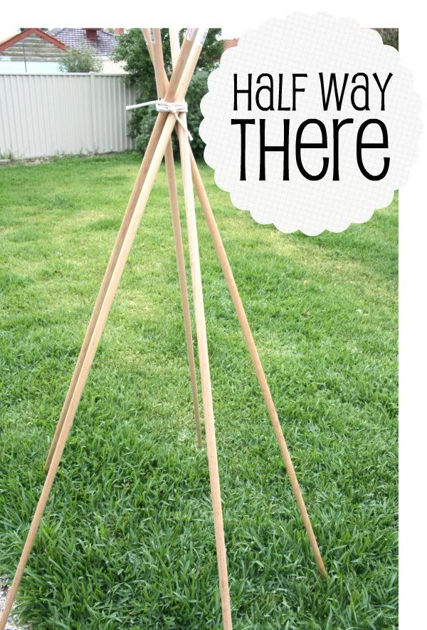 How To: DIY Tee Pee Tent - part 1, making the frame