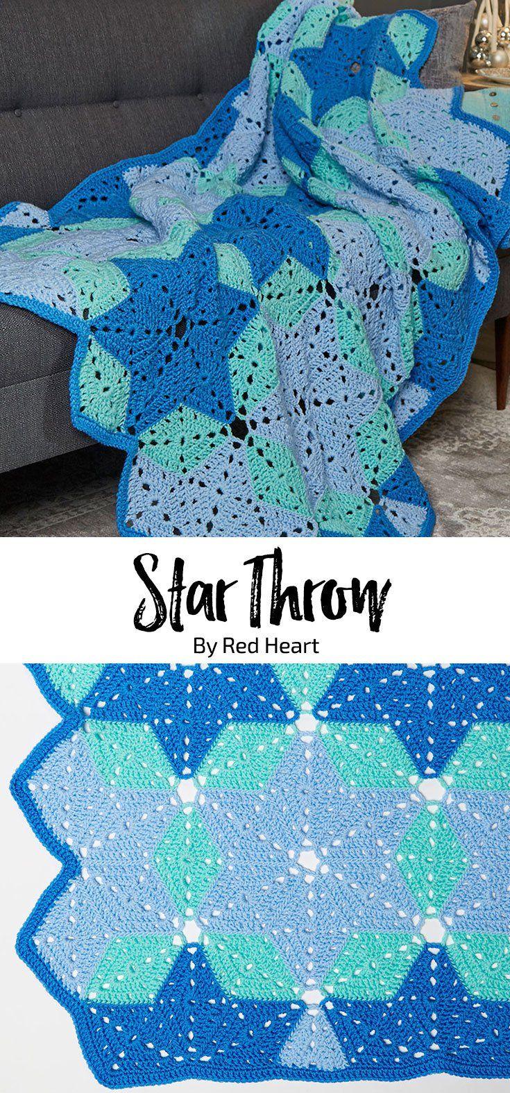 Star Throw free crochet pattern in Super Saver.