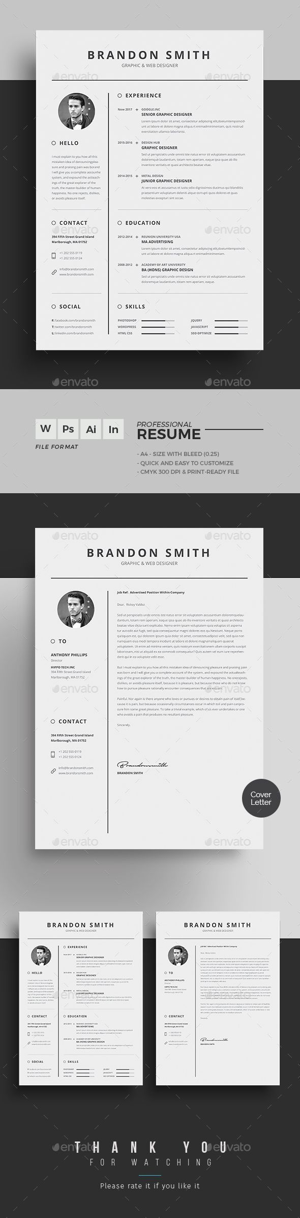 resume by upra resume word template    cv template with