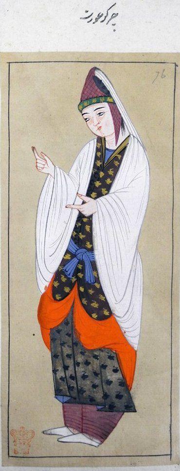 Çerkez Kadın-1620-Turkey-British Library