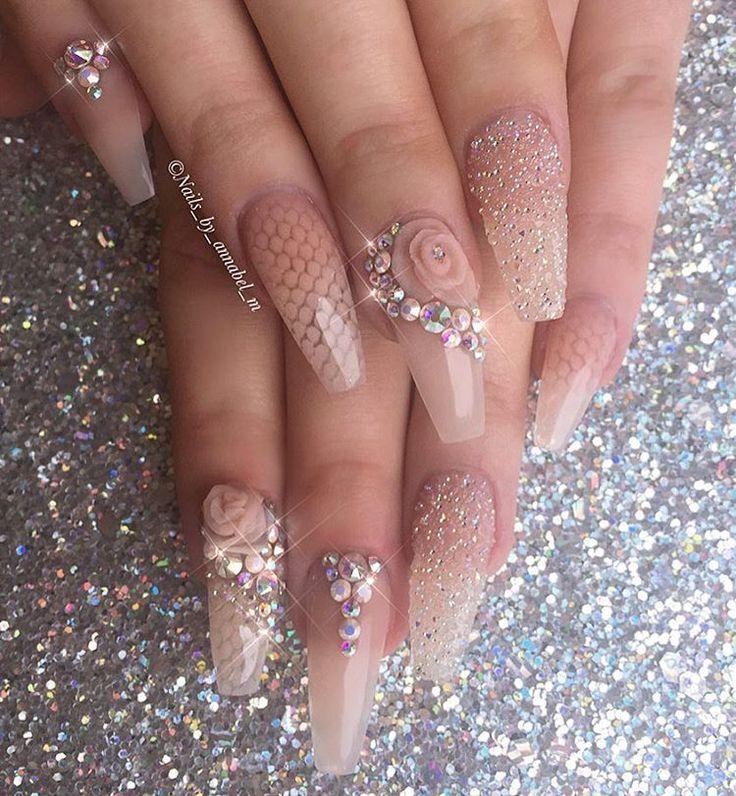 Uñas estilo concha de mar  #nails