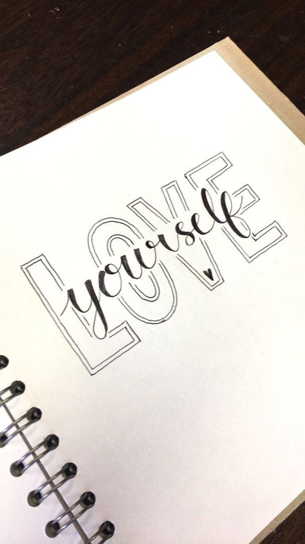Tolle 70 inspirierende Kalligraphie-Zitate zum Besten von Ihr Bullet Journal – Die sparsame K…