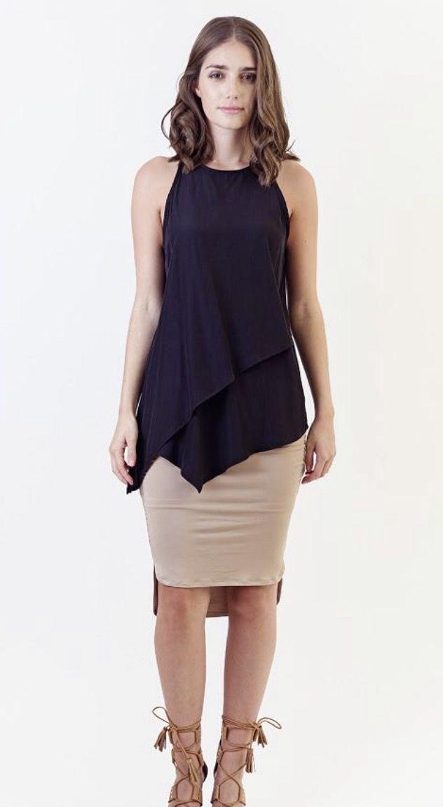 Silk Layers Top - Black