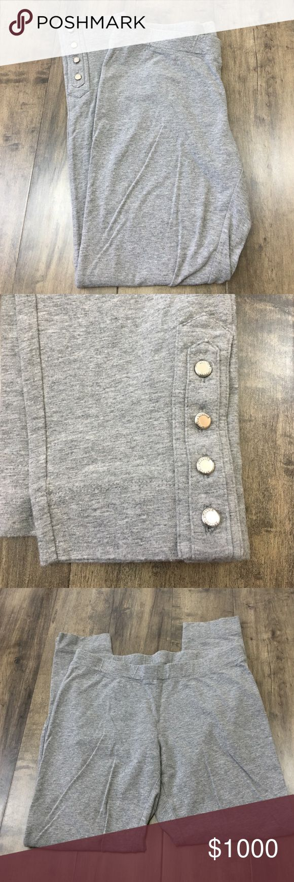 Armani Exchange leggings Armani Exchange grey leggings with button detail on ankle, length 30.5in, inseam 24 in ⚠️ NO PAYPAL ⚠️ NO TRADES ⚠️ NO HOLDS ⚠️ I WILL NOT RESPOND TO OFFERS MADE IN COMMENTS SECTION, SO PLEASE USE OFFER BUTTON. Armani Exchange Pants Leggings