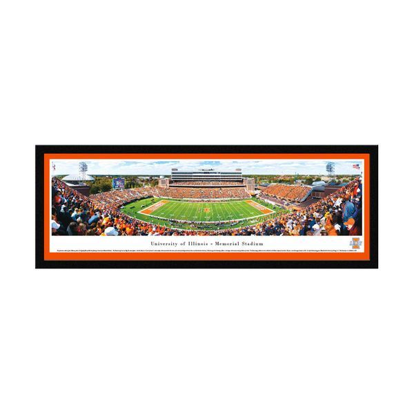 "Illinois Fighting Illini 16"" x 42"" Select Frame Panoramic Photo - $149.99"