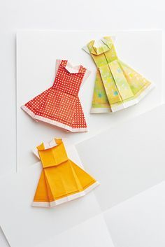 leichter basteln: Origami: Kleider aus Papier - News - Aktuelles - burda style