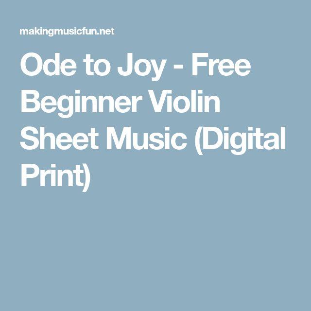 Ode to Joy - Free Beginner Violin Sheet Music (Digital Print)