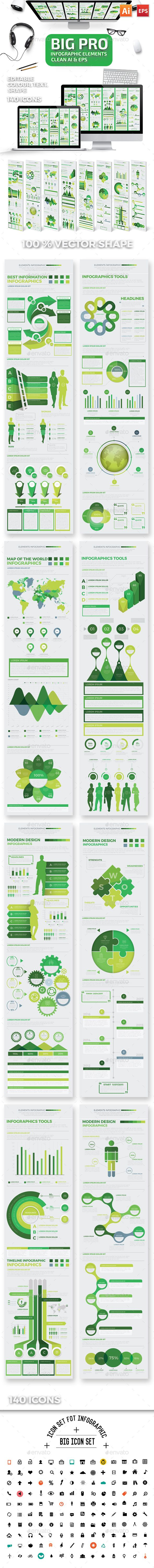 Infographics Elements Template Vector EPS, AI Illustrator