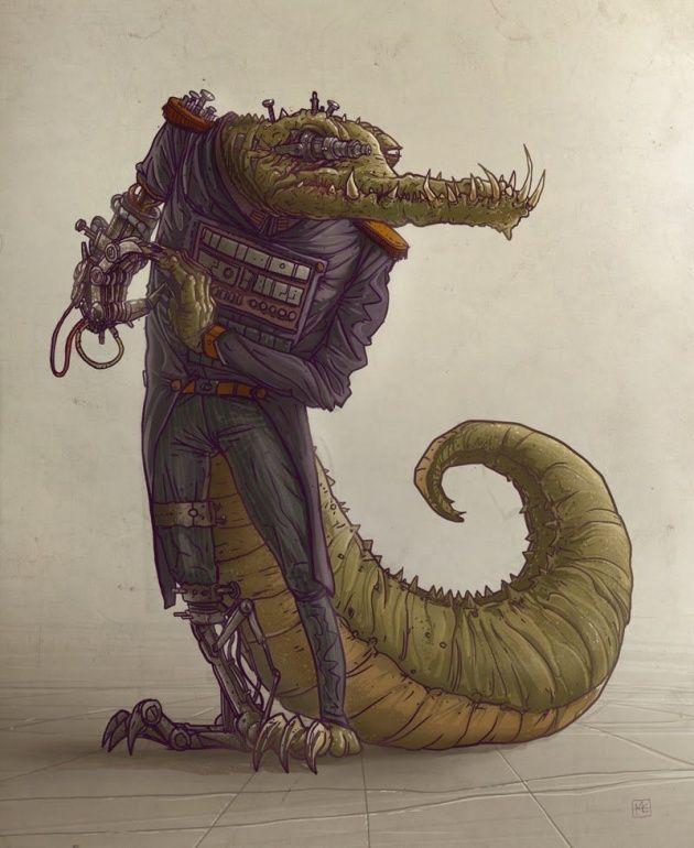 croc concept Illustration by Michal Dziekan
