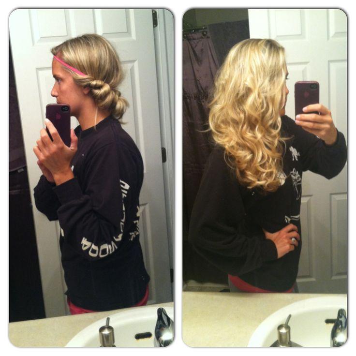 Overnight Natural Looking Headband Curls Spray A Little