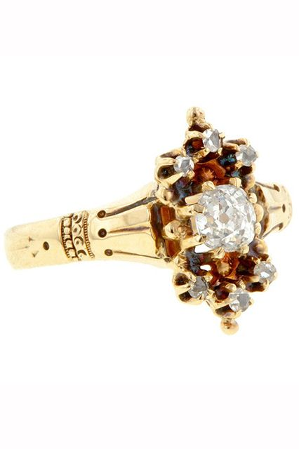 33 Quirky Engagement Rings For Alt Brides #refinery29  http://www.refinery29.com/61572#slide4  Doyle & Doyle Antique Victorian Diamond Ring Circa 1890, $2,950, available at Doyle & Doyle.