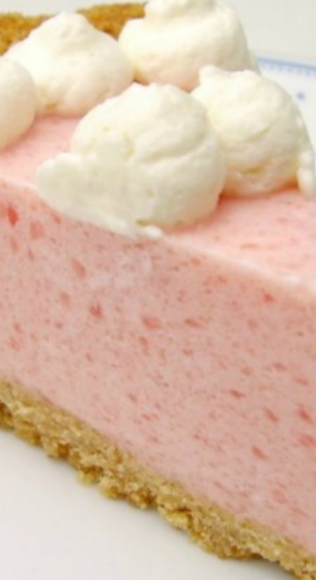 Watermelon Chiffon Pie Recipe ~ Luscious... This feather-light chiffon pie has the subtle but distinct flavor of watermelon
