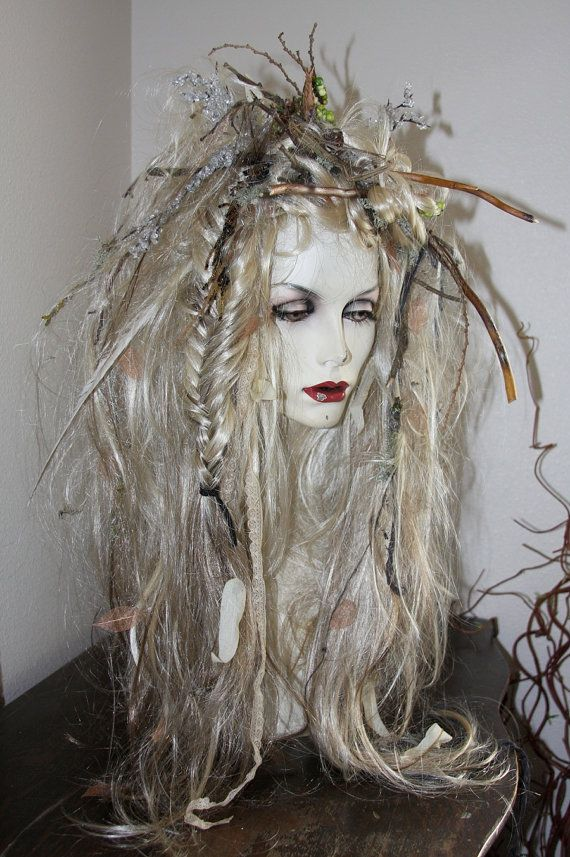 Full Wig -Examples of Special Orders- Costume Faerie world Renaissance Fairy Wedding Steampunk theater - hair, wig, headpiece via Etsy