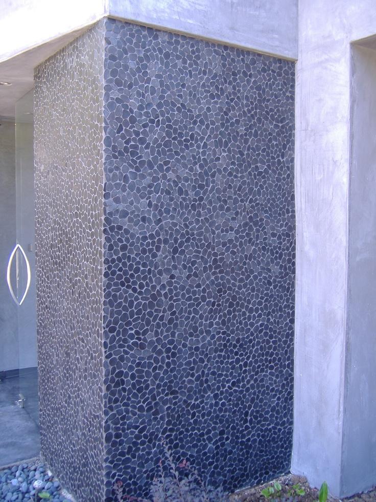 Midnight Wave tile (sliced pebbles) tiles by zen paradise, inc