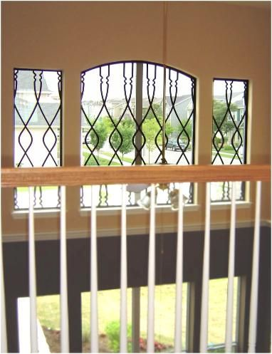 Faux Wrought Iron Window Treatment. | The 3 ornamental windo… | Flickr
