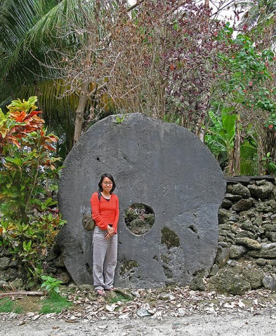 Rai stones - the giant money stones of Yap. I think I'll stick with Paypal.