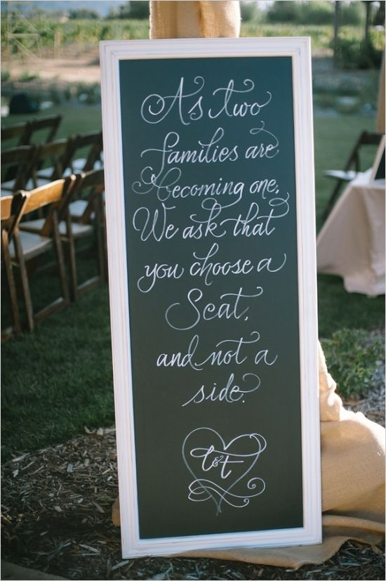 wedding ceremony welcome sign #weddingsigns #gardenwedding #weddingchicks http://www.weddingchicks.com/2014/01/16/dynamite-and-pearls-wedding/