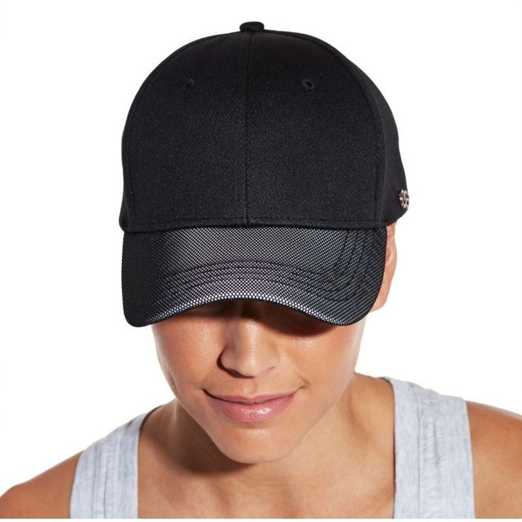 Calia by Carrie Underwood Women's Reflective Mesh Visor Hat, Black