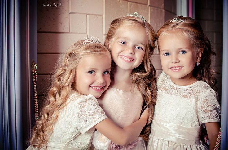 triplets girls they liked plaited each others hair