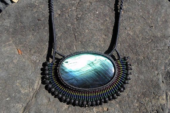 Check out this item in my Etsy shop https://www.etsy.com/listing/541678411/labradorite-cabochon-macrame-stone